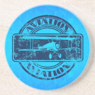 Retro Aviation Art Drink Coasters