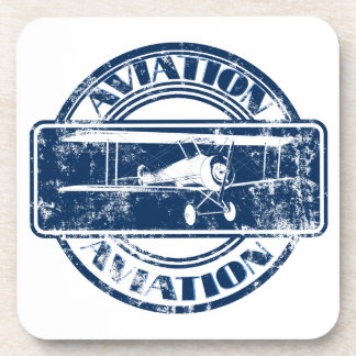 Retro Aviation Art Beverage Coaster