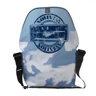 Retro Aviation Art Courier Bag