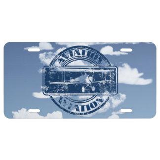 Retro Aviation Art License Plate