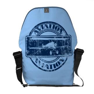 Retro Aviation Art Messenger Bag