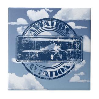 Retro Aviation Art Ceramic Tiles