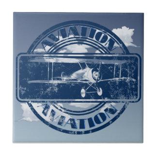 Retro Aviation Art Tiles