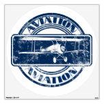 Retro Aviation Art Wall Sticker