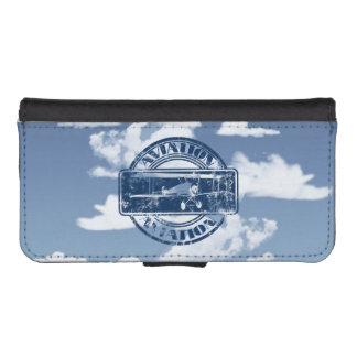 Retro Aviation Art Wallet Phone Case For iPhone SE/5/5s