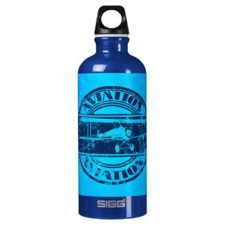 Retro Aviation Art Water Bottle