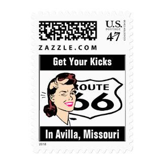 Retro Avilla Missouri Travel Wink Route 66 Vintage Postage