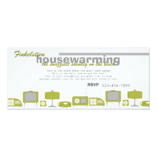 Retro Avocado Electronics 4x9.25 Paper Invitation Card