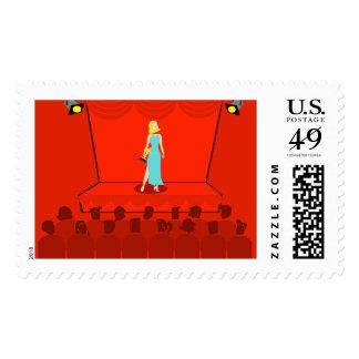 Retro Award Show Postage Stamps