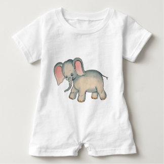 Retro Baby Elephant Baby Romper