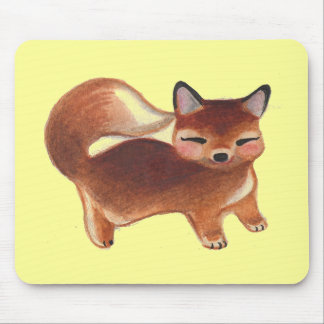 Retro Baby Fox Mouse Pad