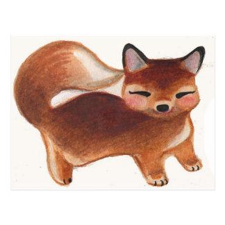 Retro Baby Fox Postcard