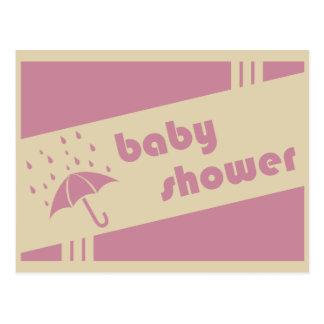retro baby shower postcard