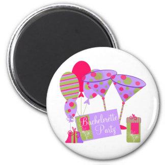 Retro Bachelorette Party 2 Inch Round Magnet