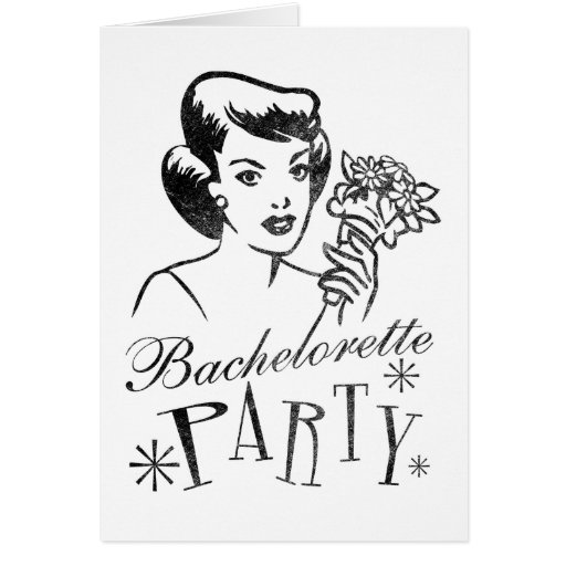 Retro Bachelorette Party Greeting Card