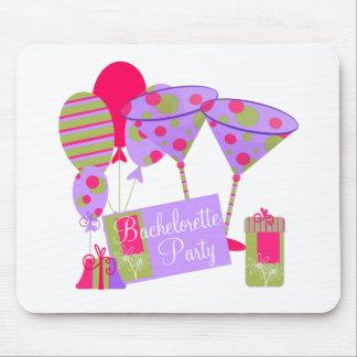Retro Bachelorette Party Mouse Pad
