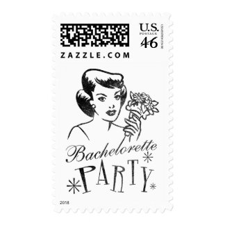 Retro Bachelorette Party Stamp