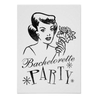 Retro Bachelorette Party Poster