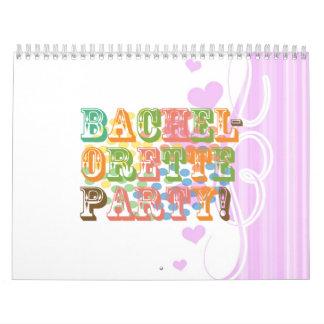 retro bachelorette party wedding bridal shower calendar