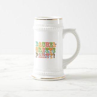 retro bachelorette party wedding bridal shower coffee mug