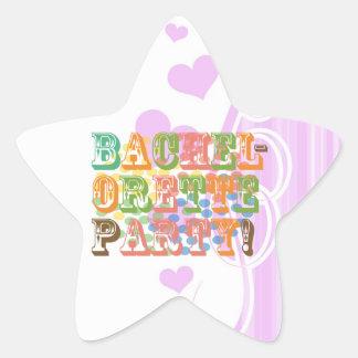 retro bachelorette party wedding bridal shower star sticker