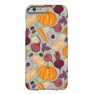 Retro background from fresh vegetables barely there iPhone 6 case