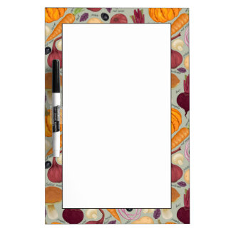 Retro background from fresh vegetables Dry-Erase board