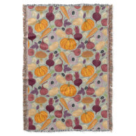 Retro background from fresh vegetables throw blanket