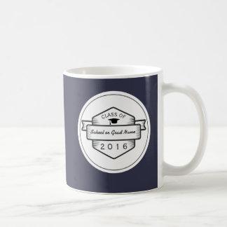 Retro Badge Logo Graduation Class of 2017 Coffee Mug