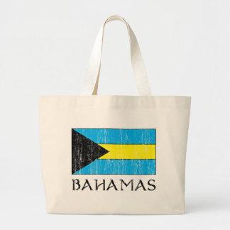 Retro Bahamas Flag Totebag Tote Bags