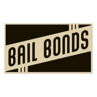 retro bail bonds business card