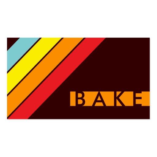 retro BAKE Business Card