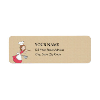 Retro Baker Return Address Label
