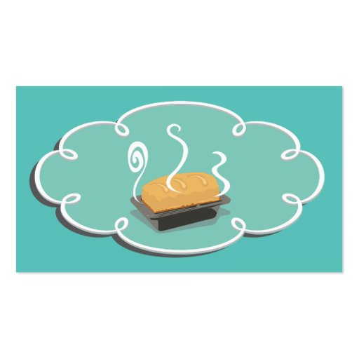Retro Bakery Cookie Business card Bread Back (back side)