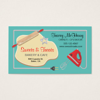 Retro Bakery Cookie Business card No Back