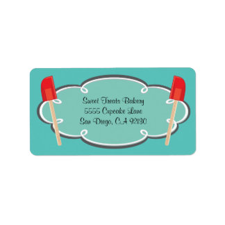 Retro Bakery Cooking address labels
