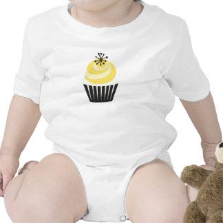 Retro Bakery cupcake Baby Bodysuit