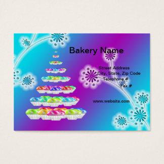 "Retro Bakery/Cupcakes 3.5"" x 2"" (Chubby) Business  Business Card"