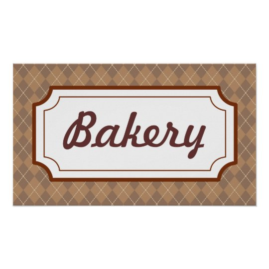 Retro Bakery Sign Poster