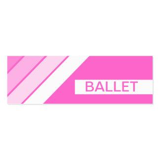 retro BALLET Mini Business Card