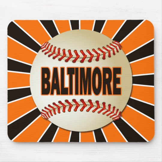RETRO BALTIMORE BASEBALL MOUSE PAD