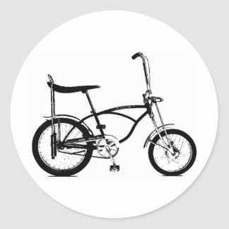 Retro Banana Seat Bike Classic Round Sticker