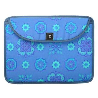Retro Bandanna Neon Blue Macbook Pro Flap Sleeve MacBook Pro Sleeves