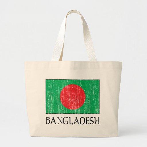 Retro Bangladesh Flag Totebag Tote Bag
