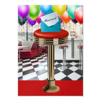 Retro Bar Stool Invitation - SRF