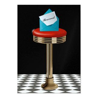 Retro Bar Stool (with Cocktail) Invitation - SRF