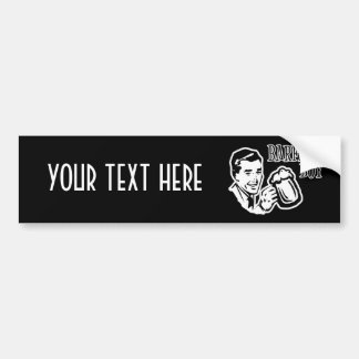 Retro Barfday Boy - Black & White Bumper Sticker
