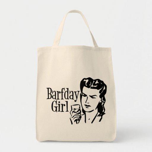 Retro Barfday Girl - Black & White Tote Bag