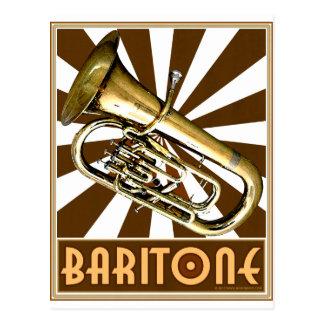 Retro Baritone Postcard