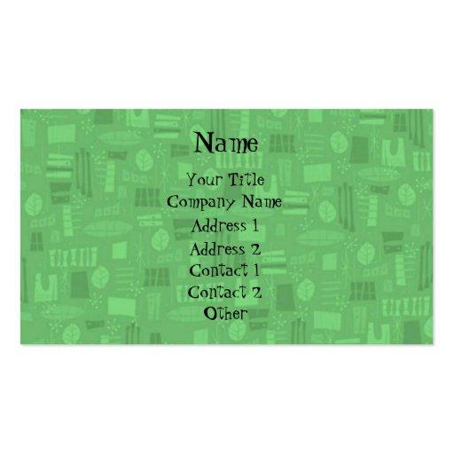 Retro Barkcloth Business Card Template